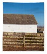 Dairy Buildings At Historic Pierce Fleece Blanket