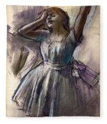 Dancer Stretching Fleece Blanket