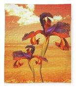 Dancing In The Sunset Fleece Blanket