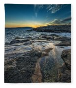 Day's End At Scoodic Point Fleece Blanket