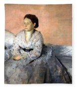 Degas' Madame Rene De Gas Fleece Blanket