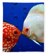 Discus Fish Fleece Blanket
