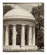 District Of Columbia War Memorial Fleece Blanket