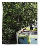 Docked By The Mangrove Trees Fleece Blanket