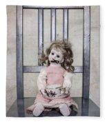 Doll With Tea Cup Fleece Blanket