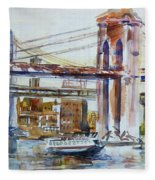 Downtown Bridge Fleece Blanket