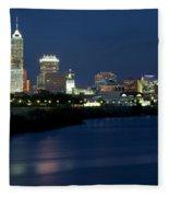 Downtown Indianapolis Indiana Fleece Blanket