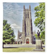 Duke Chapel In Spring Fleece Blanket
