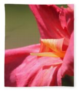 Dwarf Canna Lily Named Shining Pink Fleece Blanket