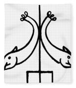 Early Christian Symbol Fleece Blanket