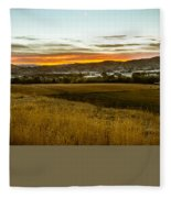 East End Of Emmett Valley Fleece Blanket