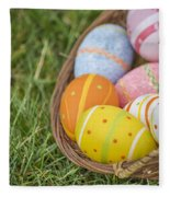 Easter Eggs Fleece Blanket