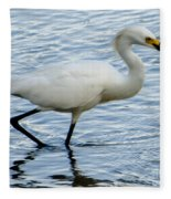 Coastal Egret Fleece Blanket