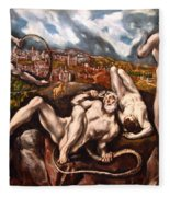 El Greco's Laocoon Fleece Blanket