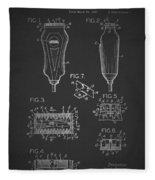 Electric Razor Patent 1940 Fleece Blanket