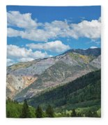 Elevated View Of Trees On Landscape Fleece Blanket
