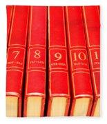 Encyclopedia Fleece Blanket