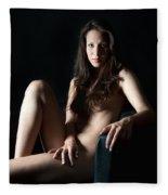 Erotic Woman Fleece Blanket