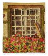 Farm Window Fleece Blanket