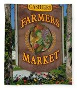 Farmers Market Fleece Blanket