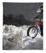 Fat Tire Bike Fleece Blanket