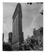 Flatiron Building Manhattan  Fleece Blanket