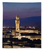 Florence At Sunset Fleece Blanket