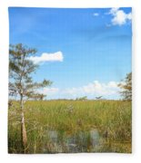 Florida Everglades Fleece Blanket