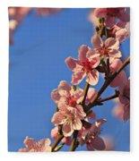 Flowering Peach Tree Fleece Blanket