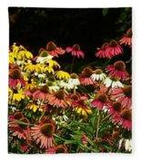 Flowers Gone Wild Fleece Blanket