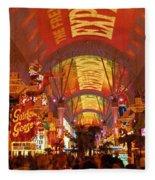 Fremont Street Experience Las Vegas Nv Fleece Blanket