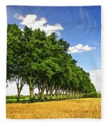 French Country Road Fleece Blanket
