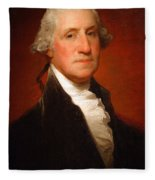 George Washington By Gilbert Stuart -- 2 Fleece Blanket
