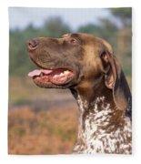 German Short-haired Pointer Dog Fleece Blanket