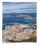 Gibraltar City And Bay Fleece Blanket