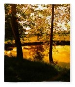 Golden Pond 3 Fleece Blanket