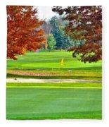 Golf Course Beauty Fleece Blanket