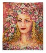 Good Fortune Goddess Fleece Blanket