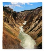 Grand Canyon Of Yellowstone Fleece Blanket