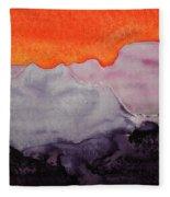 Grand Canyon Original Painting Fleece Blanket