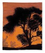 Gray Sky Sunset Fleece Blanket