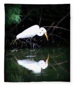 Great White Egret Fleece Blanket