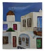 Greek Village Fleece Blanket