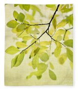 Green Foliage Series Fleece Blanket