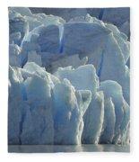 Grey Glacier In Chilean National Park Fleece Blanket