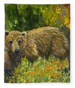 Grizzly Study 2 Fleece Blanket