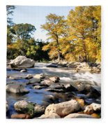 Guadalupe River  Fleece Blanket