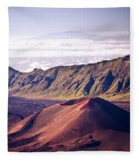 Haleakala Sunrise On The Summit Maui Hawaii - Kalahaku Overlook Fleece Blanket