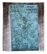 Headstone Abstract Fleece Blanket