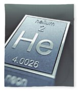 Helium Chemical Element Fleece Blanket